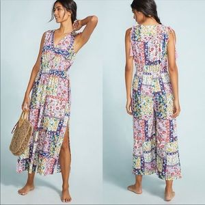 NWT Anthropologie Patchwork Jumpsuit XL